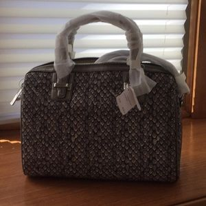 Authentic Coach fabric snake print satchel